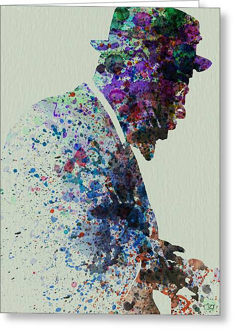 Thelonious Monk Watercolor 1 Greeting Card by Naxart Studio