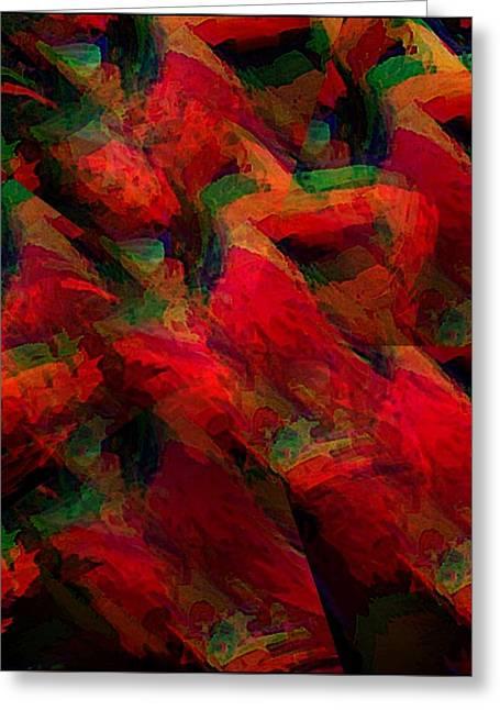 Snow Tree Prints Greeting Cards - Theory of Tango II Greeting Card by Gina Seymour