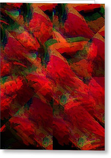 Snow Tree Prints Greeting Cards - Theory of Tango III Greeting Card by Gina Seymour