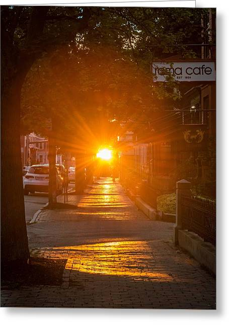 There Goes The Sun Greeting Card by Tim Sullivan