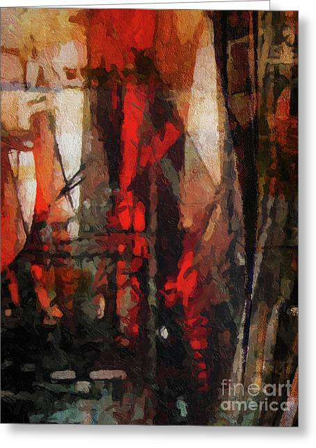 Abstract Artist Greeting Cards - There is a crack in everything Greeting Card by Lutz Baar