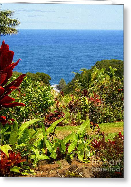 Blue Green Water Greeting Cards - There is a Paradise - Maui Hawaii Greeting Card by Glenn McCarthy Art and Photography