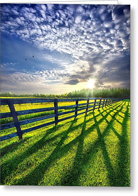 Fence Greeting Cards - There is More that Unites than Divides Greeting Card by Phil Koch