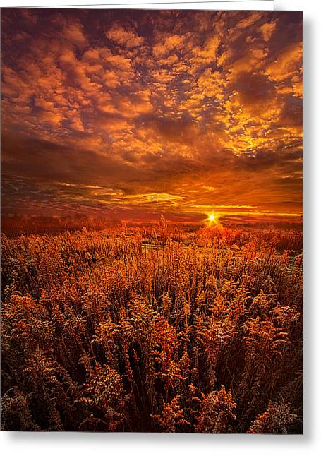 There Is No Sign To Say You Have Arrived Greeting Card by Phil Koch