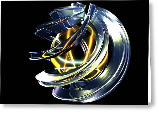 Glass Ball Greeting Cards - There Was Light Greeting Card by Louis Ferreira