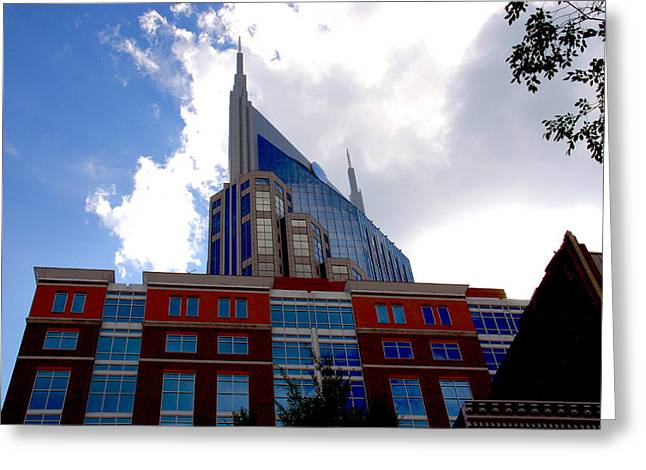 Country Music Town Greeting Cards - There where modern and old architecture meet Greeting Card by Susanne Van Hulst