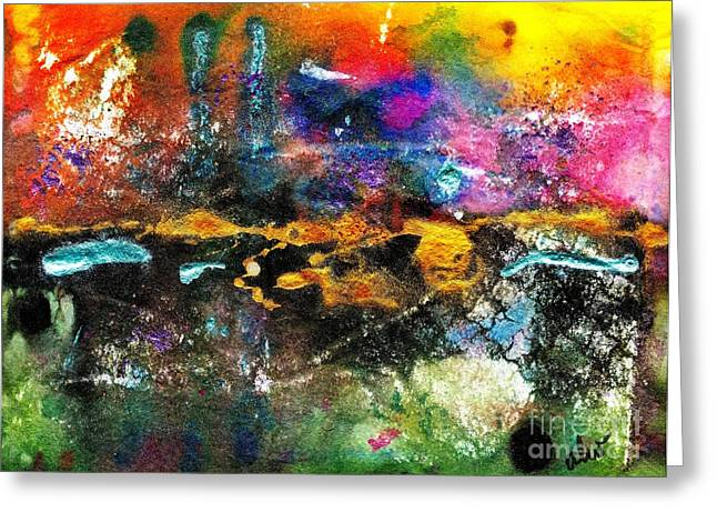 Survivor Art Greeting Cards - Theres a Celebration in the City Greeting Card by Angela L Walker