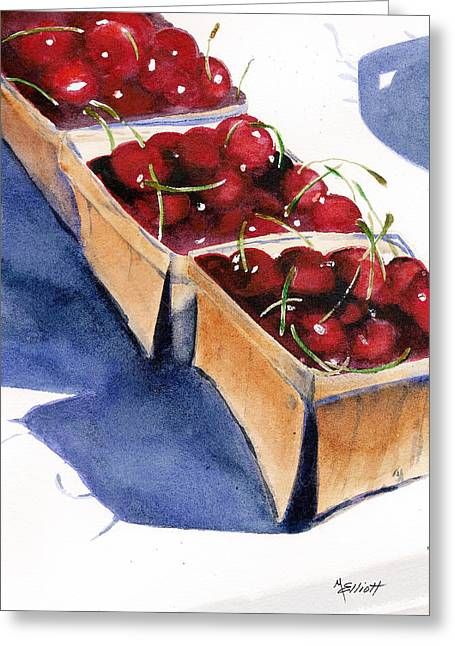 Pie Greeting Cards - Theres a Pie Awaiting Greeting Card by Marsha Elliott