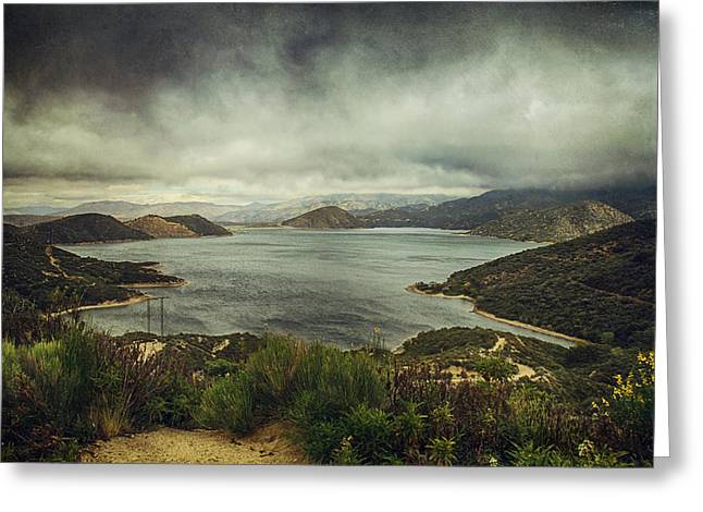California Lakes Greeting Cards - Theres a Storm Brewing Greeting Card by Laurie Search