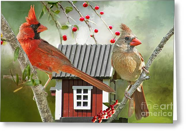 Pairs Greeting Cards - Theres No Place Like Home Greeting Card by Bonnie Barry