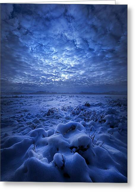 There's No Point Escaping Greeting Card by Phil Koch
