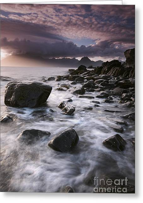 Eerie Greeting Cards - Theres Something About Elgol Greeting Card by David Lichtneker