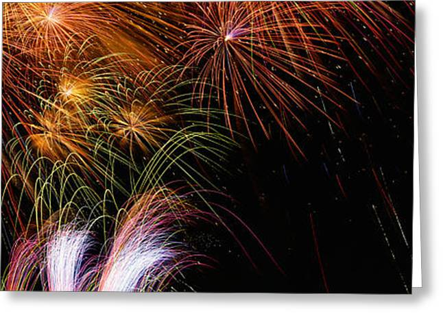 Special Occasion Greeting Cards - These Are Fireworks From Navy Pier. It Greeting Card by Panoramic Images