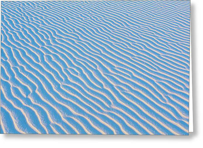 Sand Pattern Greeting Cards - These Are White Sand Dunes In Morning Greeting Card by Panoramic Images