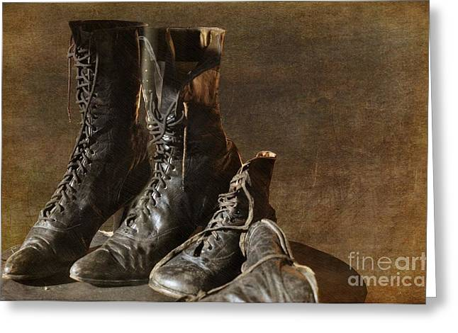 Liane Wright Greeting Cards - These Boots Are Made For Walking Greeting Card by Liane Wright