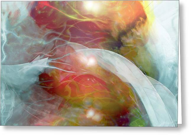 Theta Brain Waves Greeting Card by Linda Sannuti