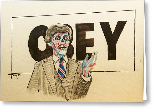 They Live Greeting Card by Christopher Chouinard