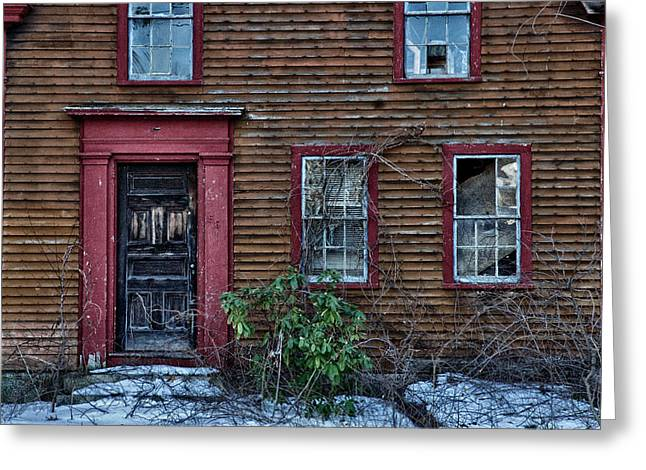 Abandoned Houses Greeting Cards - Theyve Gone Away Greeting Card by Ross Powell