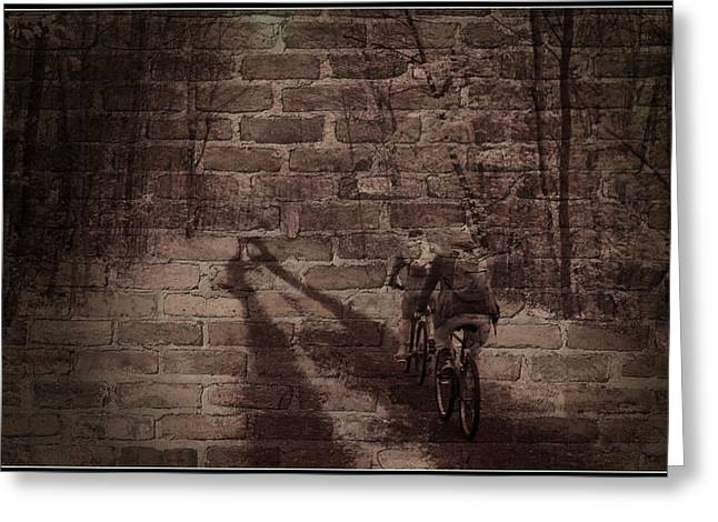 Hitting The Wall Greeting Card by Jim Cook