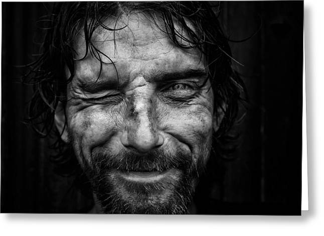 Outsider Photographs Greeting Cards - Thierry  Greeting Card by Juan  HRodriguez