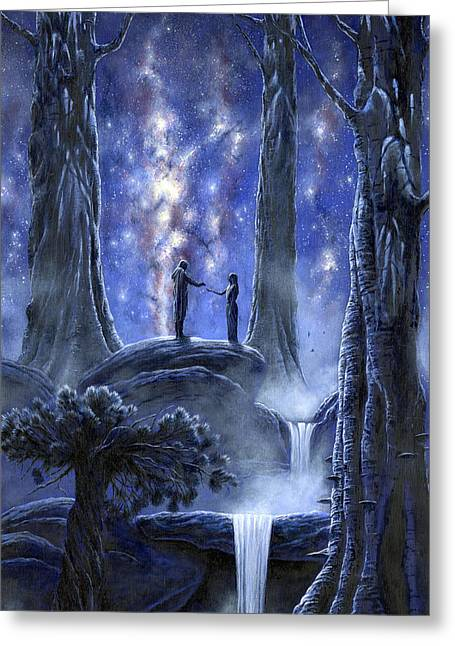 Recently Sold -  - Fantasy Tree Greeting Cards - Thingol and Melian Greeting Card by Kip Rasmussen