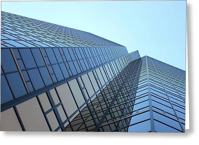 Things Are Looking Up Southfield Michigan Town Center Building Perspective Greeting Card by Design Turnpike