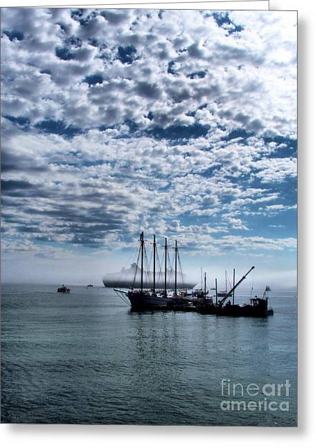 Foggy Ocean Greeting Cards - Things of Old to Days of New Greeting Card by Elizabeth Dow