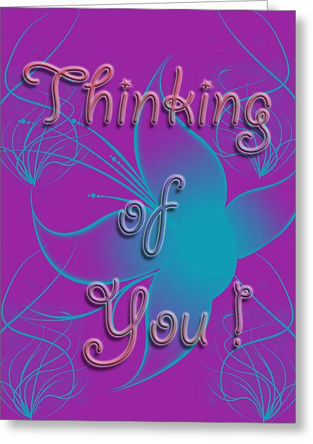 Missing Mixed Media Greeting Cards - Thinking of You Greeting Card by Kristie  Bonnewell