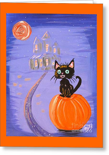 The Houses Greeting Cards - Things I Like Best at Halloween Greeting Card by Phyllis Kaltenbach