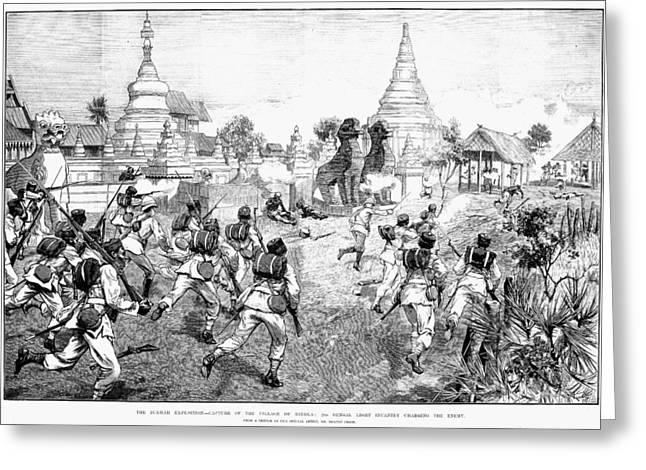 Bayonet Greeting Cards - Third Burmese War, 1885 Greeting Card by Granger