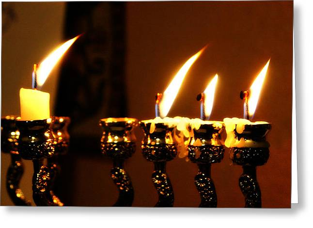 Chanukkah Greeting Cards - Third Night Greeting Card by Kevin Phipps