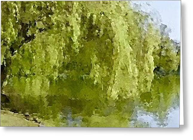 Willow Lake Greeting Cards - Thirsty Willow Greeting Card by Scott Johnson