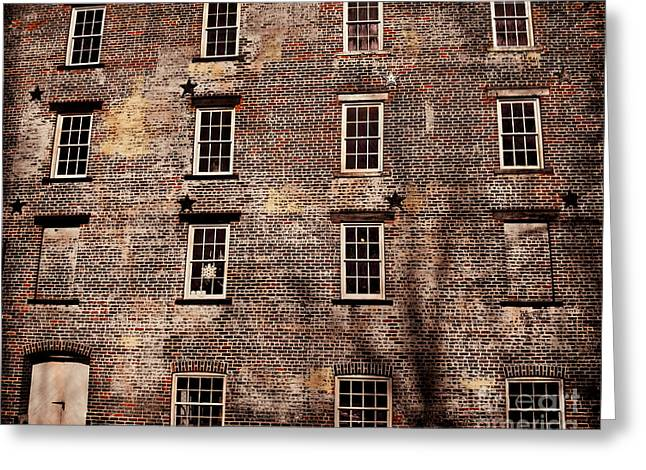 Altered Architecture Greeting Cards - Thirteen Windows Greeting Card by Colleen Kammerer