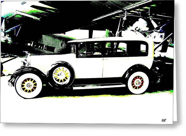 Limo Greeting Cards - Thirties Packard Limo Greeting Card by Will Borden