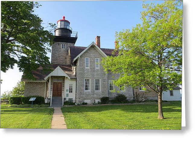 Historic Site Greeting Cards - Thirty Mile Point Lighthouse Greeting Card by Cindy Kellogg