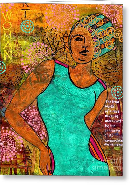 Survivor Art Greeting Cards - This Artist Speaks Truth Greeting Card by Angela L Walker