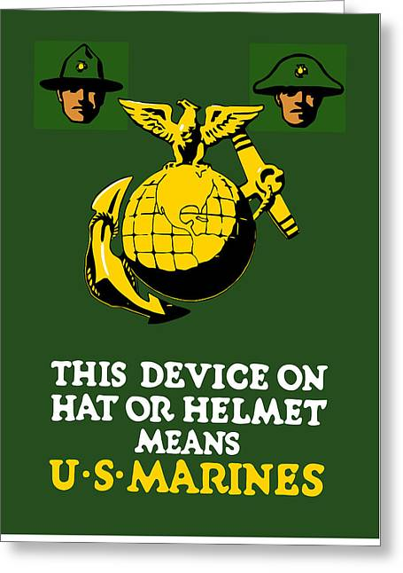 Semper Fidelis Greeting Cards - This Device Means US Marines  Greeting Card by War Is Hell Store