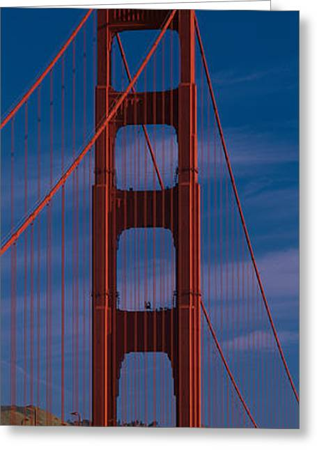 Marin County Greeting Cards - This Is A Close Up Of The Golden Gate Greeting Card by Panoramic Images