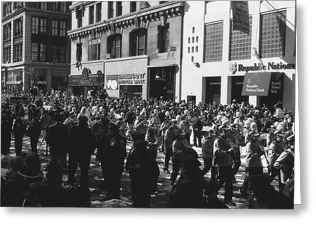 This Is A Ticker Tape Parade Greeting Card by Panoramic Images