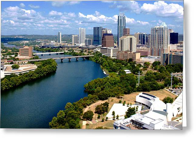 This Is Austin Greeting Card by James Granberry