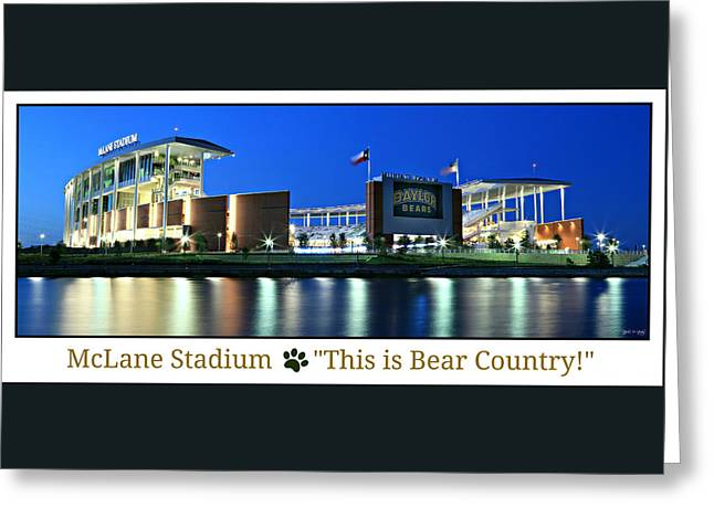 Cheerleader Greeting Cards - This Is Bear Country Greeting Card by Stephen Stookey