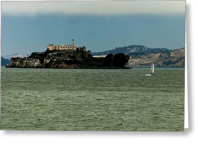 Alcatraz Greeting Cards - This is California 7 - Escaping from Alcatraz Greeting Card by Paul W Sharpe Aka Wizard of Wonders
