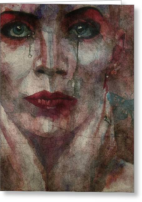 Watercolour Portrait Greeting Cards - This Is Fear This Is Dread These Are The Contents Of My Head @2 Greeting Card by Paul Lovering