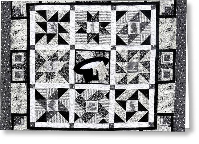 Gray Tapestries - Textiles Greeting Cards - This IS IT Front Greeting Card by Tracie L Hawkins