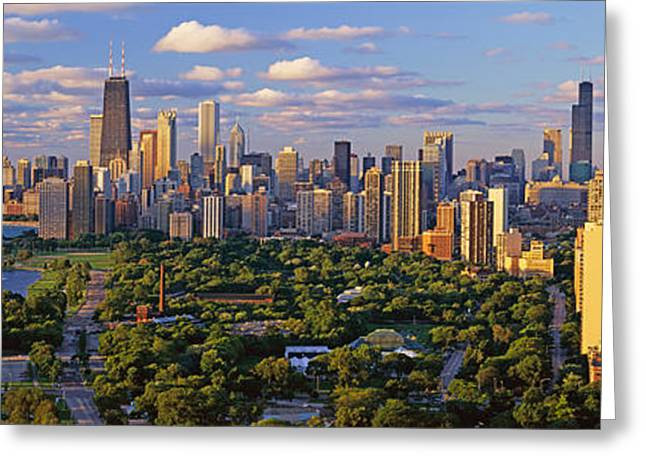 This Is Lincoln Park With Diversey Greeting Card by Panoramic Images
