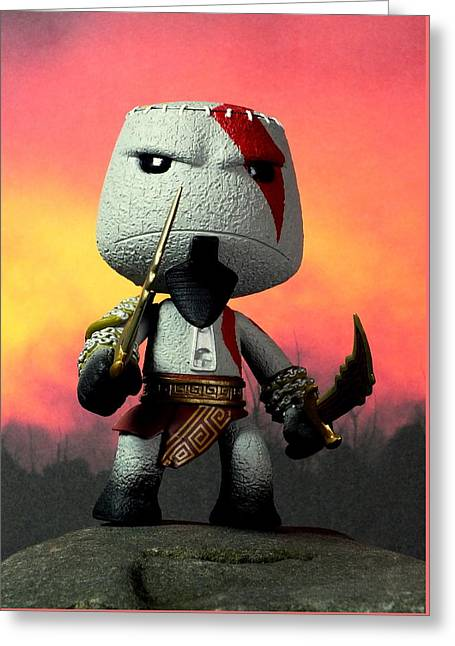 Xbox Greeting Cards - This Is Little Big Sparta Greeting Card by Piggy