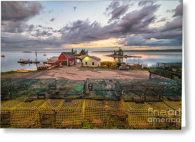 Lobster Shack Greeting Cards - This is Maine Greeting Card by Benjamin Williamson
