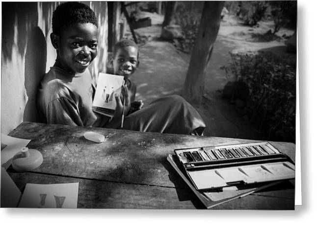 Africa Photographs Greeting Cards - This Is My Art Greeting Card by Carlos German Romero