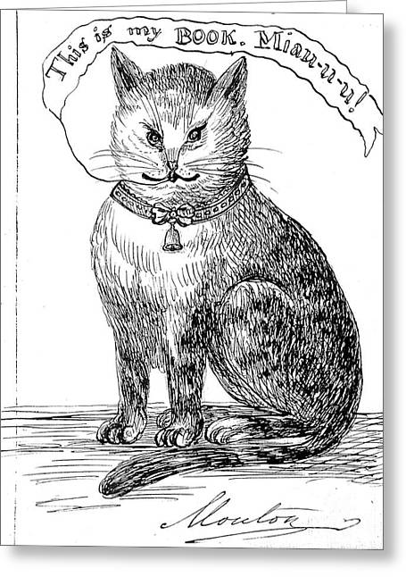 This Is My Book, Miau-u-u, 1859 Greeting Card by Wellcome Images