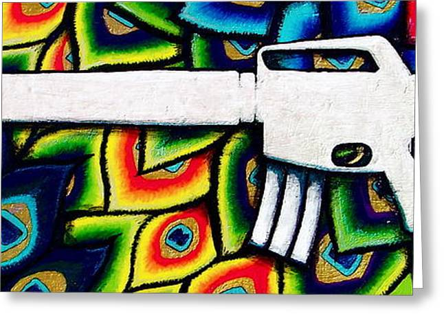 This Is My Rifle Greeting Card by Veronika Rose